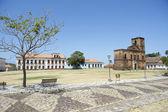 Matriz Plaza and Sao Matias Church in Alcantara Brazil
