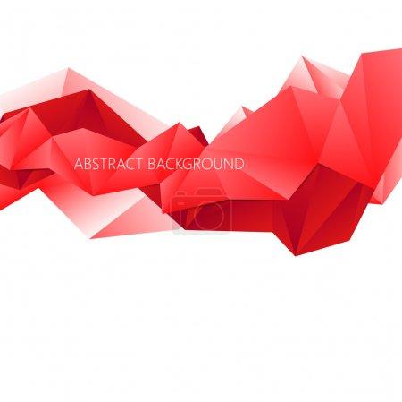 Illustration pour Fond vectoriel polygonal rouge abstrait de triangles - image libre de droit