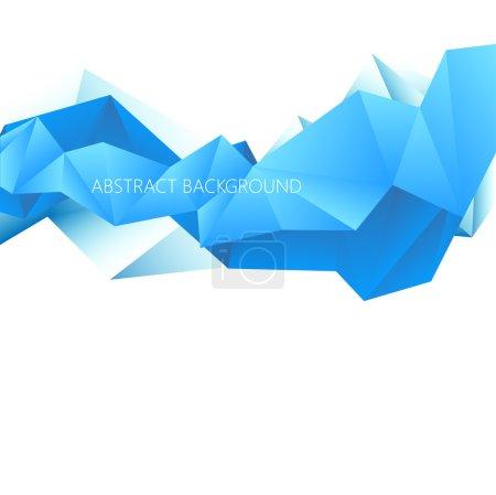 Illustration pour Fond vectoriel polygonal abstrait de triangles - image libre de droit