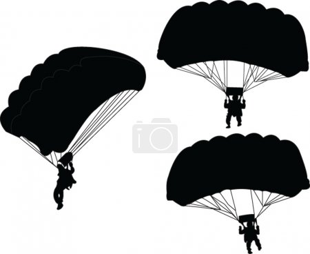 Parachutist - vector