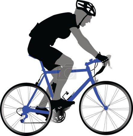 Bike racer - vector