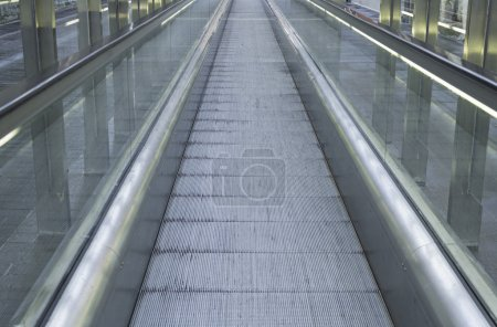 Escalator in urban city with perspective...