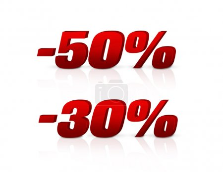 Discount of 30 per cent and 50