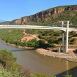 Bridge in the mountains across the river Nile. Afr...