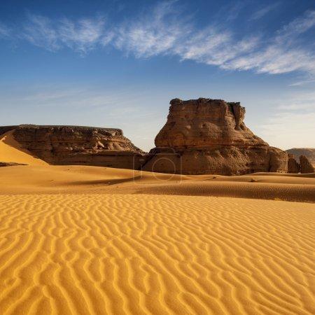Southern Libya. Sahara Desert. Sand, rocks and dunes