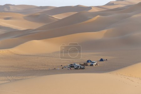 Tourist camp in the Sahara Desert, Libya.
