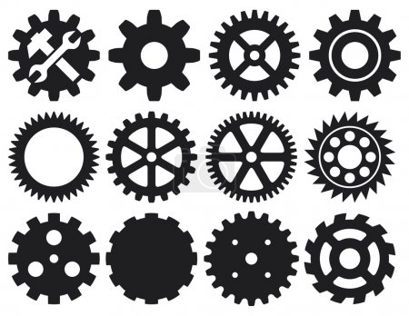 Illustration for Gear icons set - Royalty Free Image