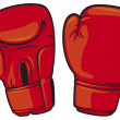 Red boxing gloves...
