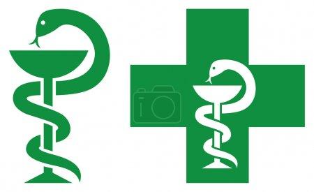 Illustration for Pharmacy symbols - Royalty Free Image