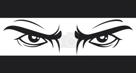 Illustration for Angry eyes drawing - Royalty Free Image