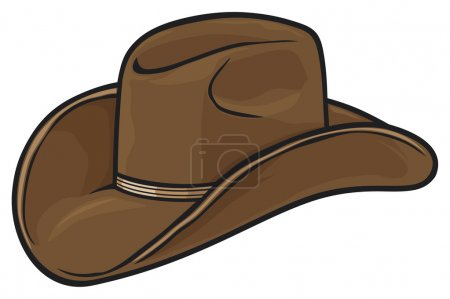 Illustration for Brown cowboy hat on white background - Royalty Free Image
