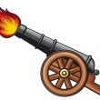 Ancient cannon (old artillery cannon)...