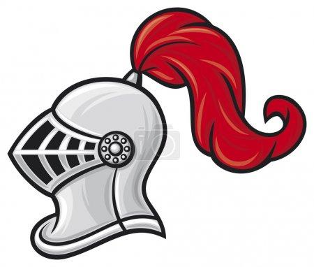 Medieval knight helmet (knight head in helmet)...