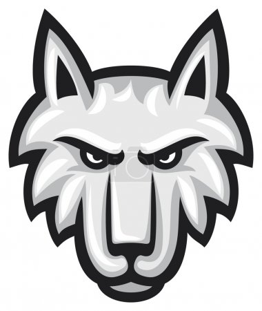 Vector illustration of wolf face