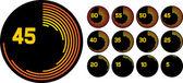 Clock icons (clock set, clock design, simple timers)