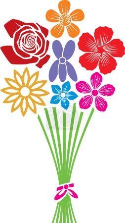 Illustration pour Bouquet de fleurs - image libre de droit