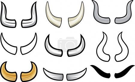 Horns collection (horn set)...