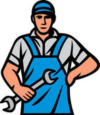 Plumber holding a wrench (plumber holding monkey wrench plumber worker plumber in uniform with tools plumber worker plumber with tools plumbing services)