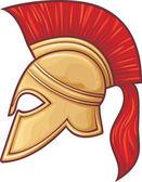 Illustration of an ancient greek warrior helmet