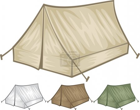 Illustration for Tourist tent for travel and camping - Royalty Free Image