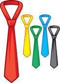 Set of male business ties