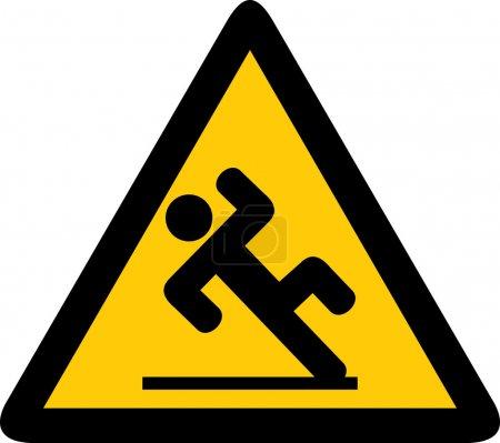 Illustration for Wet floor sign - Royalty Free Image