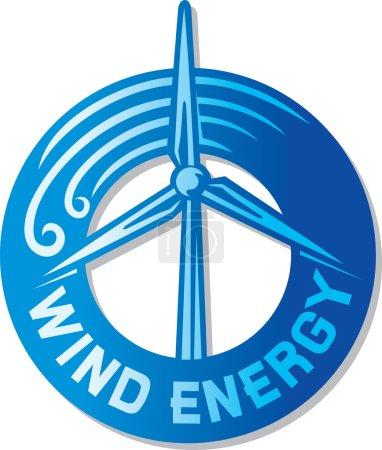 Illustration pour Éolienne - image libre de droit