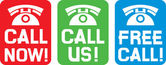 Call now label call us label free call label (phone icon set phone icons)