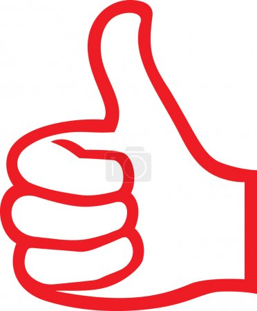 Illustration for Vector hand showing thumbs up (Human hand giving ok ) - Royalty Free Image