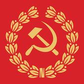 Symbol SSSR - kladivo, SRP a vavřínový věnec