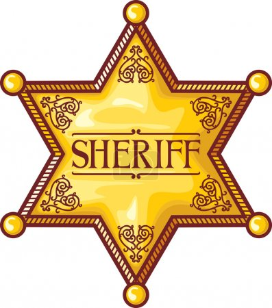 Vector sheriff's star (sheriff badge, sheriff shield)
