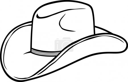 Illustration for Cowboy hat - Royalty Free Image