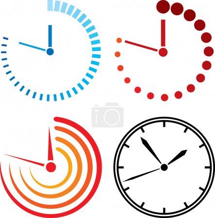 Illustration for Clock icons - Royalty Free Image