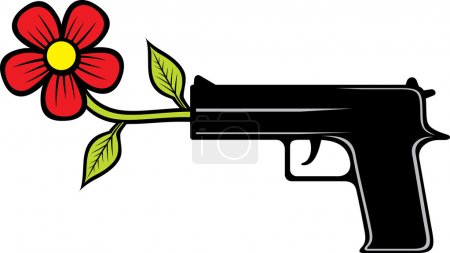 The gun shoots flowers
