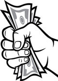 Money in the hand (Hand with money Hand holding Banknotes )