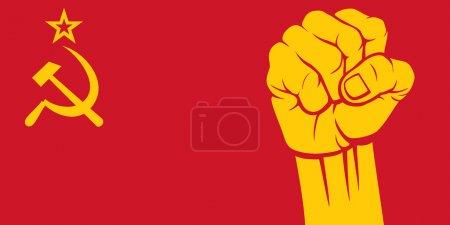 Ussr fist (flag of ussr)...