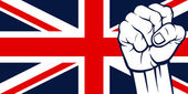United Kingdom fist (Flag of United Kingdom of Great Britain and Northern Ireland)