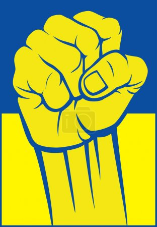 Ukraine fist (flag of ukraine)