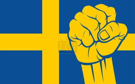 Sweden fist (Flag of Sweden)