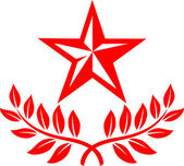 Star and laurel wreath