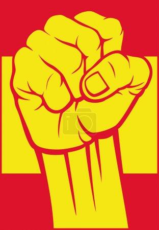 Spain fist (flag of spain)
