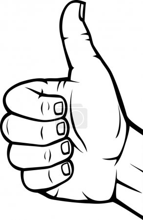 Illustration for Human hand giving ok (Vector hand showing thumbs up) - Royalty Free Image