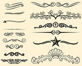 "Постер, картина, фотообои ""Vector set of decorative elements (decorative lines)"""