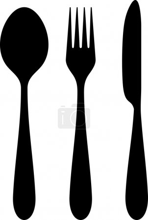 Knife, fork and spoon...