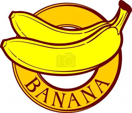 Illustration for Banana label - Royalty Free Image