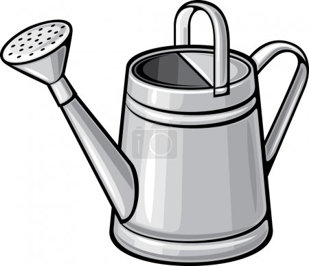 Illustration for Garden watering can - Royalty Free Image