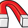 Horseshoe magnet (red magnet, iron magnet)...
