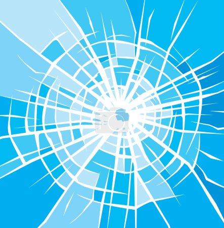 Broken glass vector background