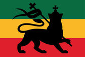 Rastafarian flag with the lion