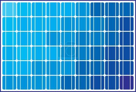 Illustration pour Conception de panneaux solaires (fond de cellule solaire ) - image libre de droit